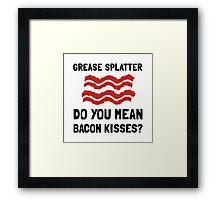 Bacon Kisses Framed Print