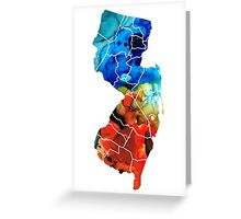 New Jersey - State Map By Sharon Cummings Greeting Card