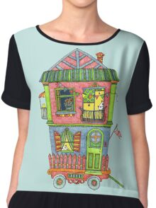 Home is where the heart is... so take it with you if you can! Chiffon Top