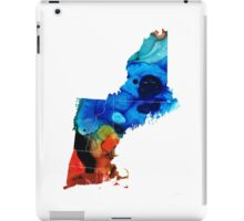 New England - Map By Sharon Cummings iPad Case/Skin
