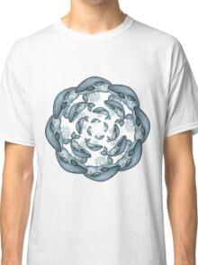 whale circle tribal pattern hand draw Classic T-Shirt