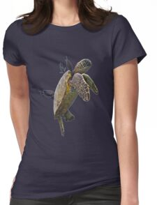 Sea Turtle Womens Fitted T-Shirt