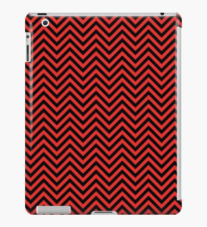 Chevron Red and Black iPad Case/Skin