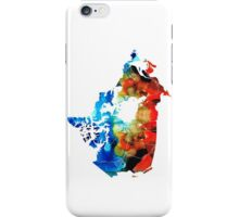 Canada - Canadian Map By Sharon Cummings iPhone Case/Skin