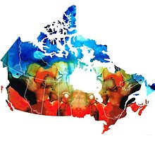 Canada - Canadian Map By Sharon Cummings by Sharon Cummings