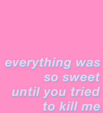 teddy bear lyrics Sticker
