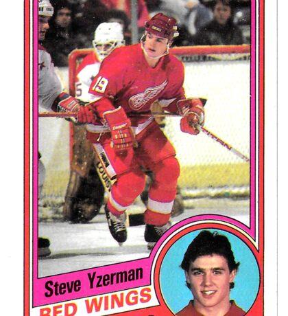 Steve Yzerman Rookie Card Sticker