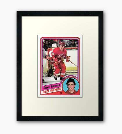 Steve Yzerman Rookie Card Framed Print
