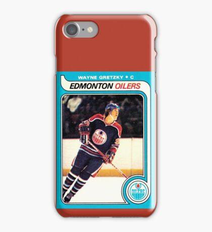Wayne Gretzky Edmonton Oilers Hockey NHL Rookie Card  iPhone Case/Skin