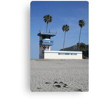 San Diego beach lifeguard station Canvas Print
