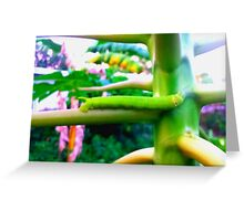 Green Papaya Caterpillar Greeting Card