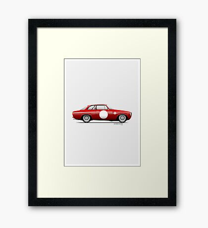 Alfa Romeo 1300 GTA Junior 1968 Framed Print