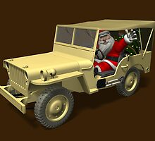 Santa Claus In Willys Jeep by Mythos57