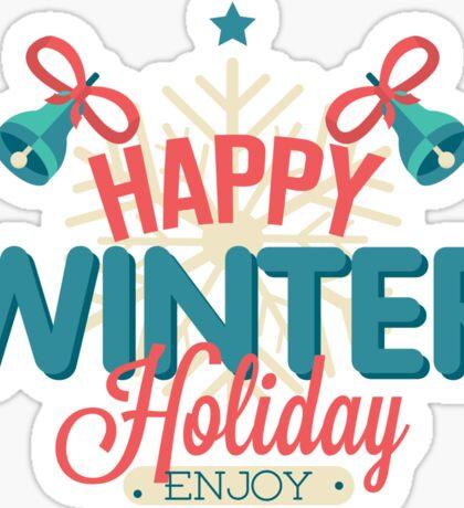 Winter holiday Sticker