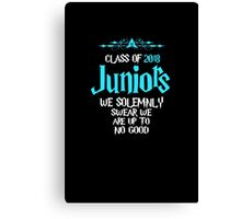 Juniors - Class of 2018 - We Solemnly Swear We Are Up To No Good Canvas Print