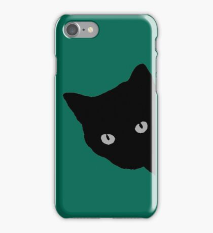 black cat phone case kitty illustration animal pet cute sweet for girls girly iPhone Case/Skin