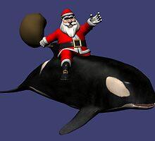 Santa Claus Riding An Orca by Mythos57
