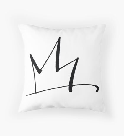 Raw Crown fit for a Queen or King Throw Pillow
