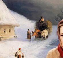 A Very Merry Olya Povlatsky Christmas Sticker