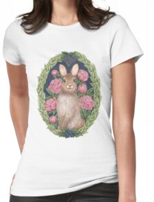 Mr. Bun Bun Womens Fitted T-Shirt
