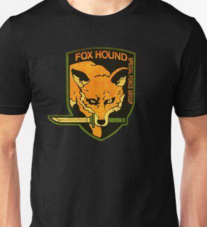 °METAL GEAR SOLID° Fox Hound Rust Logo Unisex T-Shirt