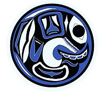 Northwest Indian Killer Whale Moon by Becca C. Smith