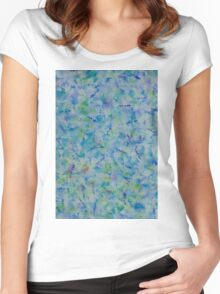 Brush Pattern (Watercolor) Women's Fitted Scoop T-Shirt
