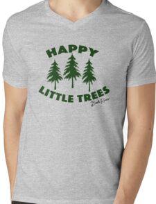 Happy Little Trees Mens V-Neck T-Shirt