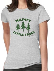 Happy Little Trees Womens Fitted T-Shirt