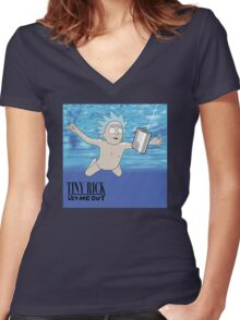 Tiny Rick - Let Me Out Women's Fitted V-Neck T-Shirt