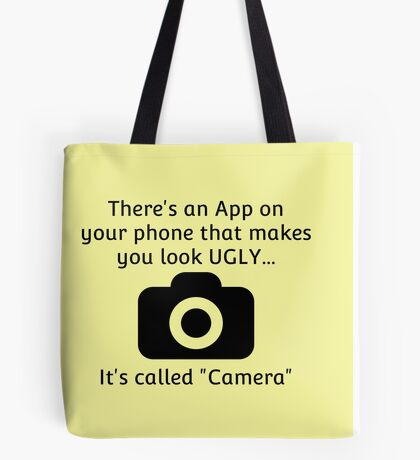 Ugly Camera App Tote Bag
