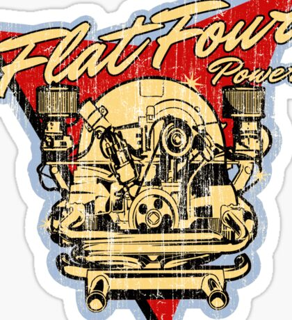Flat 4 Engine Sticker