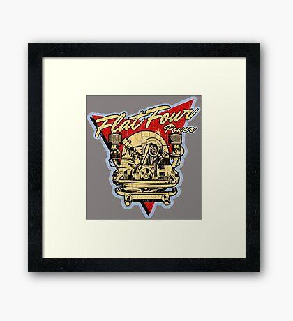 Flat 4 Engine Framed Print