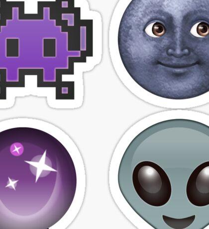 purple emoji pack Sticker