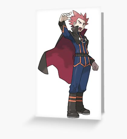 Pokemon Dragon Trainer Lance  Greeting Card