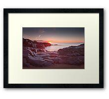 Sunrise over Bracelet Bay Framed Print