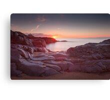 Sunrise over Bracelet Bay Canvas Print
