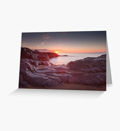 Sunrise over Bracelet Bay Greeting Card