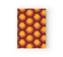 Yellow and orange honeycomb pattern Hardcover Journal