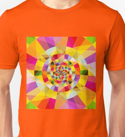 Colorful Abstract Swirly Tune Design (Fancy Fresh And Modern Hippy Style) Unisex T-Shirt