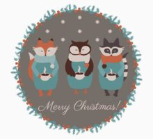 Woodland Christmas  Kids Tee