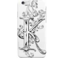 iPhone Case old print ornament embellishment K iPhone Case/Skin
