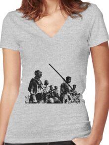 Samurai Warriors Women's Fitted V-Neck T-Shirt