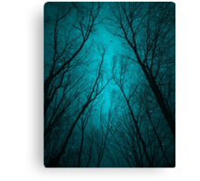 Endure the Darkness (Night Trees Silhouette Abstract 2) Canvas Print