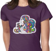 Rainbow Nouveau  Womens Fitted T-Shirt