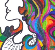 Rainbow Nouveau  Sticker