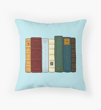 I love literature Throw Pillow