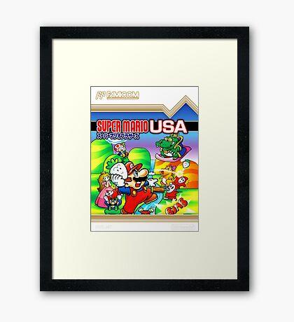 NES Super Mario Brothers 2 - Japanese Cover  Framed Print