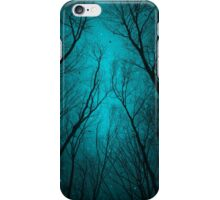 Endure the Darkness (Night Trees Silhouette Abstract 2) iPhone Case/Skin