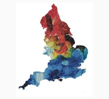 England - Map Of England By Sharon Cummings Kids Clothes
